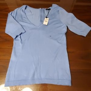 NWT Express Light Blue V-neck Sweater Size Small